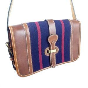 Dooney & Bourke Vintage Equestrian Striped Bag